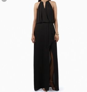 BCBG Maxazria Black Amanda Plate Collar Dress Sz 4